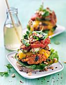Grilled vegeterian burger