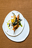 Roasted carrots with gremolata and carrot leaf oil