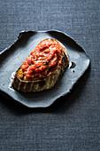 Sourdough bread with homemade tomato purée