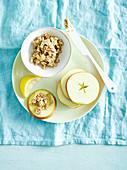 Cashew-Zimt-Aufstrich mit Apfelscheiben