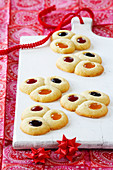 Jam biscuits for Christmas