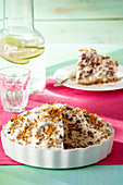 Ice cream pie with brittle