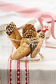 Hazelnut shortbread for Christmas