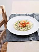 Risotto ai gamberoni (prawn risotto, Italy)