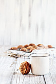 Pumpkin muffins with coffee
