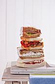 A sandwich tower