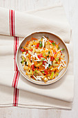 Fusilli with vegetables and ricotta