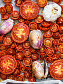 Oven-roasted tomatoes with shallots and garlic