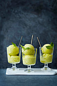 Pineapple, Thai basil and ginger sorbet
