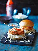 Garnelen-Katsu-Burger