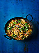 Low-fat curry with lamb and lentils