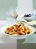 Pasta with vegetable bolognese