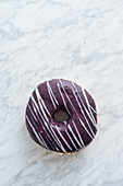 Doughnut on marble background