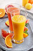 Fresh orange and grapefruit juice