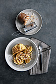 Napkin dumplings with smoked ricotta and nutmeg