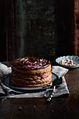Buckwheat chocolate cake with raspberry jam