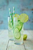 Cucumber Queen (Mocktail mit Gurke, Dill, Agavendicksaft und Mineralwasser)