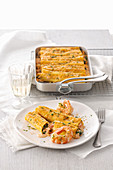 Cannelloni with seafood and Nantua sauce