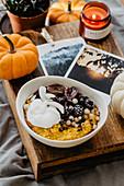 Pumpkin porridge with berries