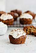 Hazelnut oatmeal muffins