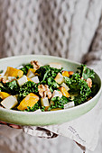 Autumn kale pumpkin salad