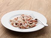 Italian ham on a starter plate
