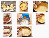 Gedeckten Apfelkuchen zubereiten