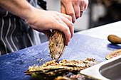 Preparing scallops