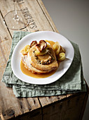 Roasted pork roulade with porcini mushrooms and chicory
