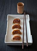 Jiaozi filled with pork
