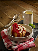 Jam Roly Poly with Devon Custard