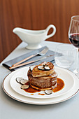 Tournedos alla Rossini (with foie gras and sliced truffles)