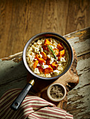 Roasted Butternut Squash and Wensleydale Cheese Risotto