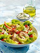 Smoked Chicken Salad, Soft Herb and Shallot Cream