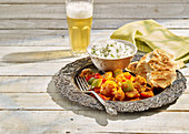 Vegetable Jalfrezi and Coriander Infused Basmati Rice