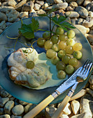 Monk fish with grapes