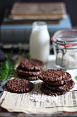 Chocolate biscuits with oats