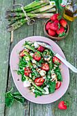 Asparagus mozzarella arugula salad
