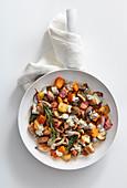 Kalbfleisch-Gemüse-Pfanne mit Gorgonzola
