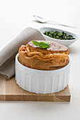 Pecorino souffle with black kale