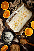 Vegan Orange and Ginger Cake with Glace Icing