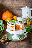 Pumpkin cottage cheese cake