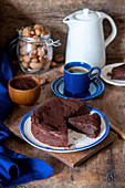 Flourless chocolate cake with nut flour