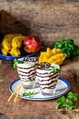 Schokoladen-Mango-Milchshake