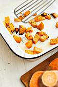 Roasted sweet potato pieces