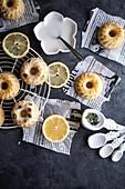Lemon and thyme mini bundt cakes