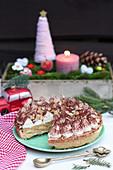 Banoffee-Kuchen zu Weihnachten