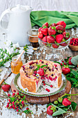 Strawberry quark cake