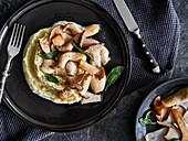 Porcini mushrooms in sage butter