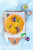 Lemon passion fruit tart